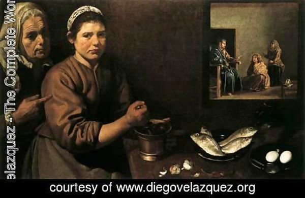 Velazquez - Christ in the House of Mary and Marthe c. 1620