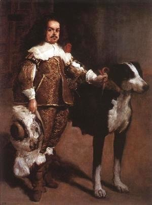 Velazquez - Court Dwarf Don Antonio el Ingles c. 1640-42