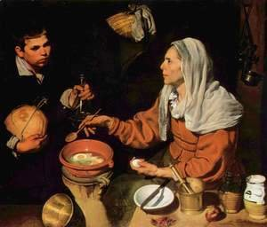 Velazquez - Old Woman Frying Eggs 1618