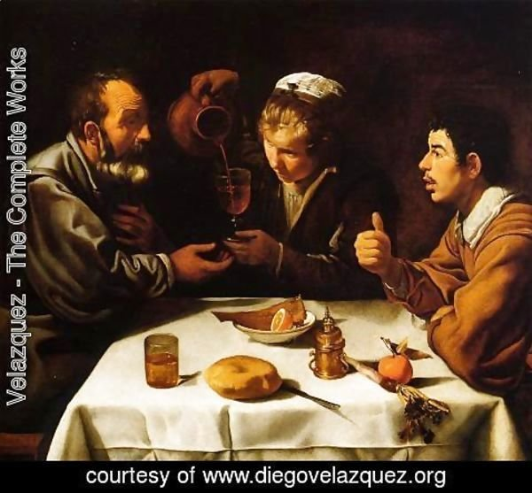 Velazquez - Peasants at the Table (El Almuerzo) c. 1620