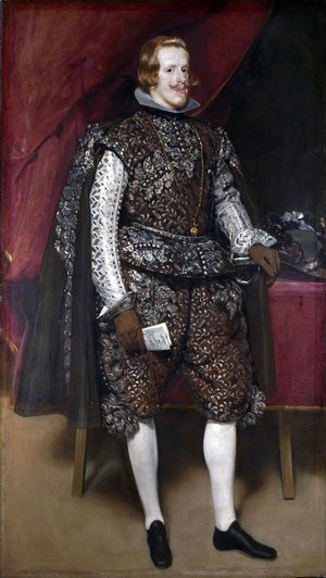 Velazquez - Philip IV in Brown and Silver 1631-32
