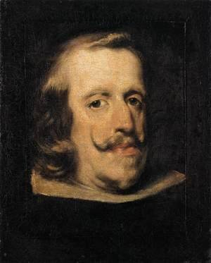Velazquez - Portrait of Philip IV (fragment) 1657-60