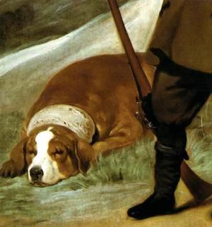 Velazquez - Prince Baltasar Carlos as Hunter (detail) 1635-36