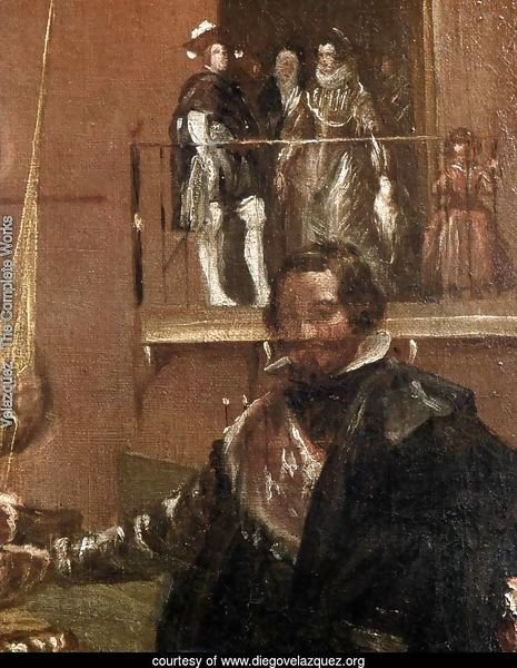 Prince Baltasar Carlos with the Count-Duke of Olivares at the Royal Mews (detail-1) c. 1636