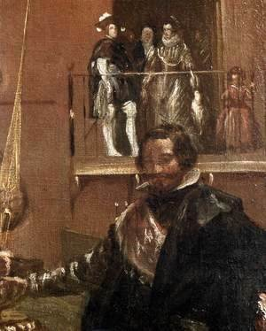 Velazquez - Prince Baltasar Carlos with the Count-Duke of Olivares at the Royal Mews (detail-1) c. 1636