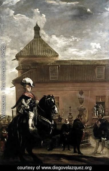 Velazquez - Prince Baltasar Carlos with the Count-Duke of Olivares at the Royal Mews c. 1636