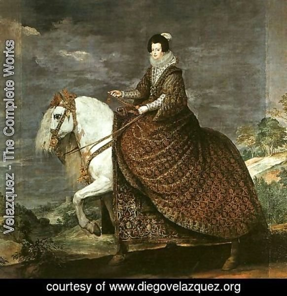 Velazquez - Queen Isabel of Bourbon Equestrian 1634-35