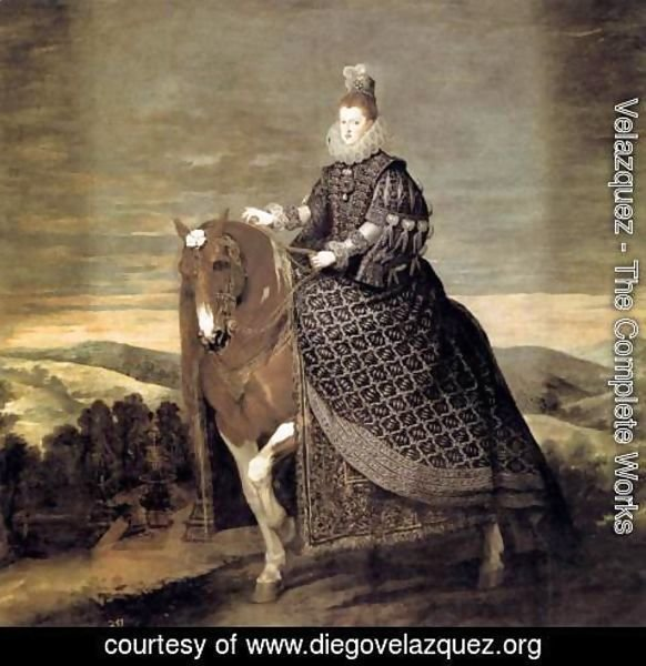 Velazquez - Queen Margarita on Horseback 1634-35
