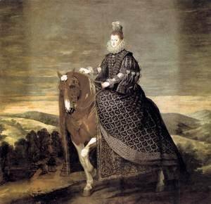 Queen Margarita on Horseback 1634-35