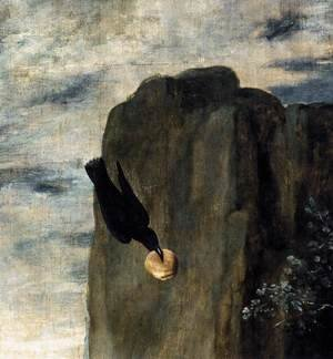 Velazquez - St Anthony Abbot and St Paul the Hermit (detail) c. 1635