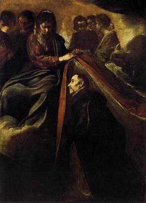 Velazquez - St Ildefonso Receiving the Chasuble from the Virgin c. 1620