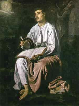 Velazquez - St John the Evangelist at Patmos c. 1618