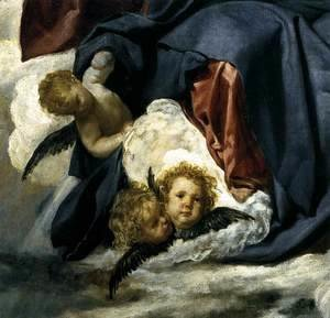 Velazquez - The Coronation of the Virgin (detail) 1645