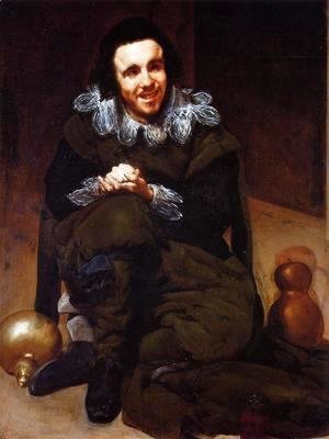 Velazquez - The Dwarf Don Juan Calabazas, called Calabacillas 1637-39