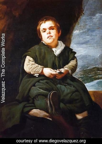 "Velazquez - The Dwarf Francisco Lezcano, Called ""El Nino de Vallecas"" 1643-45"