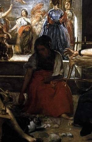 Velazquez - The Fable of Arachne (detail-3) c. 1657