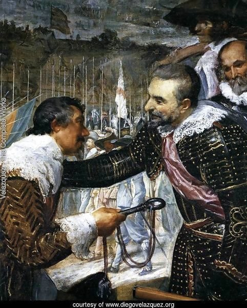 The Surrender of Breda (detail-3) 1634-35