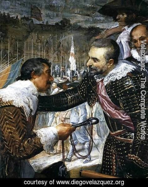 Velazquez - The Surrender of Breda (detail-3) 1634-35