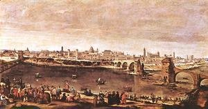 Velazquez - View of Zaragoza 1647