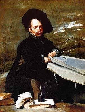 Velazquez - A Dwarf Holding a Tome in His Lap (or Don Diego de Acedo, el Primo)