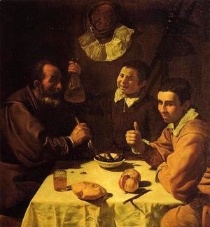 Velazquez - Three Men at a Table (or Luncheon)