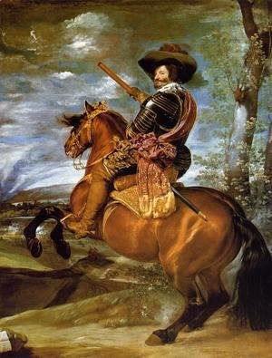 Velazquez - Count-Duke of Olivares on Horseback