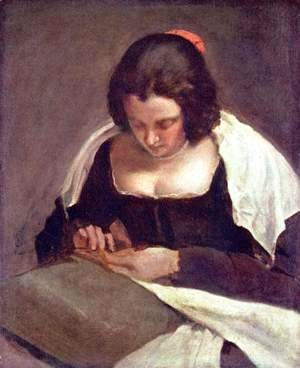 Velazquez - Sewing woman