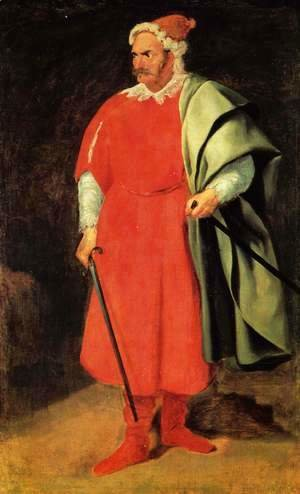 Velazquez - Portrait of the court jester of Barbarossa