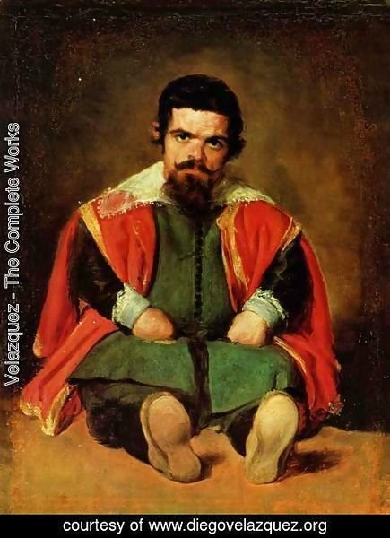 Velazquez - Portrait of a seated jester (Sebastian de Morra)