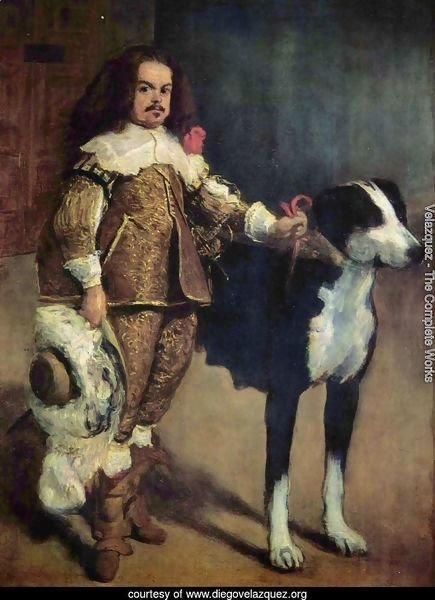 Court jester with a dog