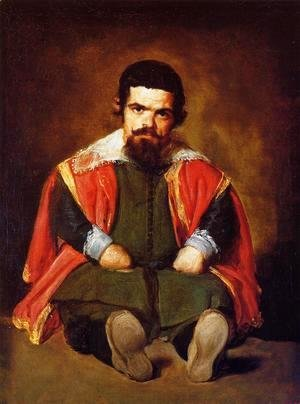 Velazquez - A Dwarf Sitting On The Floor