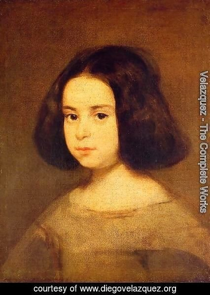 Velazquez - Portrait Of A Little Girl