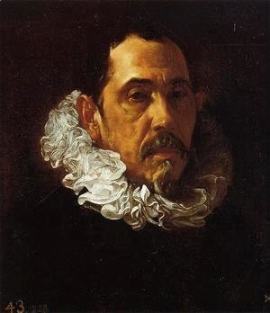 Velazquez - Portrait Of A Man With A Goatee