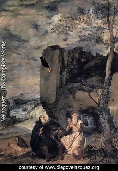 Velazquez - St  Anthony Abbot And St  Paul The Hermit