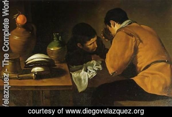 Velazquez - Two Young Men At A Table